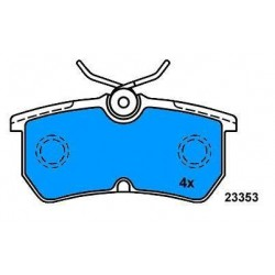 Rear Brake pads FOCUS since 98 FIESTA since 2005