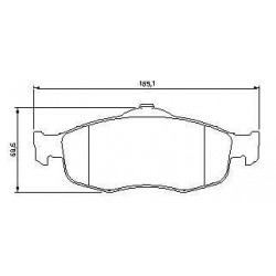 Front brake pads MONDEO S/SEGN SINCE 1999