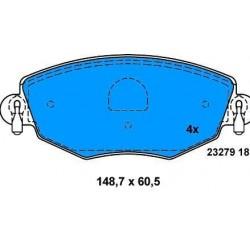 Front brake pads MONDEO SINCE 2000 JAGUAR X-TYPE SINCE 2004