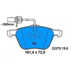 Front brake pads GALAXI 1.9 TDI SHARAN/ALHAMBRA TRANSPORTER