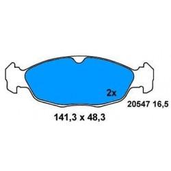 Front Brake pads CORSA/ASTRA/TIGRA BZ SINCE 93 1.2-1.4-1.7D