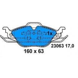Front brake pads ASTRA G 98 1.2-1.4-1.6-1.7TD
