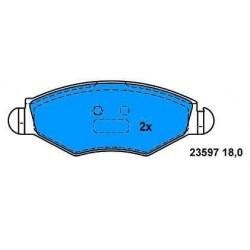 Front brake pads P.206 1.4-1.6-1.9D/P.306 1.4