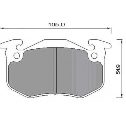 Rear Brake pads R. CLIO II/CITROEN XARA/ZX/PEUGEOT 206/306