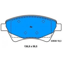 Front Brake pads MEGANE SCENIC 2°