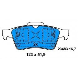 Rear Brake pads FOCUS-TRANSIT CONNECT-LAGUNA/SIGNUM from 2001