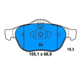 Front Brake pads MEGANE/SCENIC 1.5 Dci since 2003
