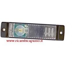 WHITE 24V LED headlight, 3 LED side